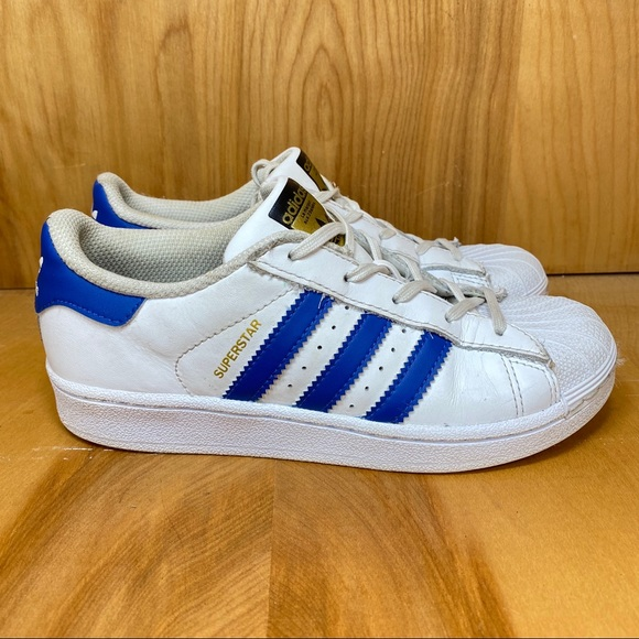 adidas Shoes | Superstar White Blue